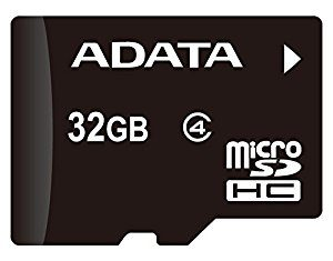 ADATA MICRO SD CARD 32GB CLASS 4 W/ ADAPTOR AUSDH32GCL4-RA1