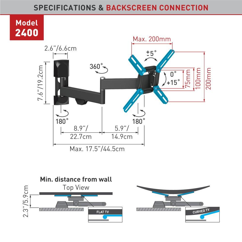 Barkan 2400 B 13 39 Full Motion Tv Wall Mount Wizz