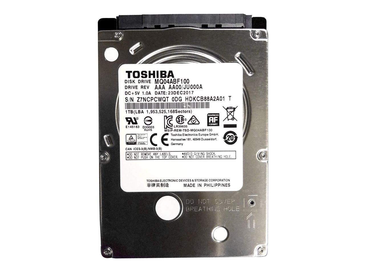 Toshiba MQ04ABF100 1TB 5400RPM SATA 7mm 2 5