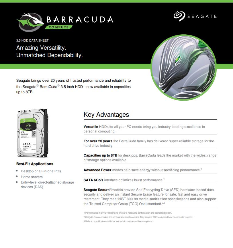 Seagate Barracuda Internal Hard Drive 4TB SATA 6Gb/s 256MB Cache 3 5-Inch  (ST4000DM004)